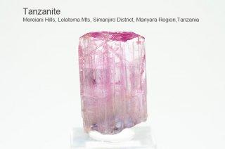 タンザナイト 結晶石 タンザニア産|ピンクタンザナイト|灰簾石|Mereiani Hills, Lelatema Mts, Tanzania|Tanzanite|