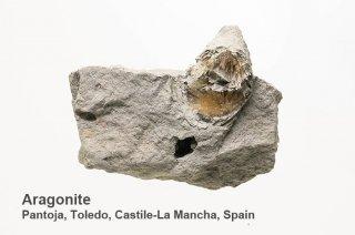 アラゴナイト 結晶石  スペイン産|Pantoja, Toledo, Castile-La Mancha, Spain|Aragonite|霰石|