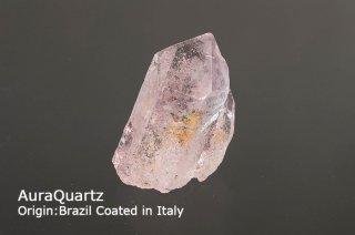 【ライトピンク】オーラクリスタル 3A クラスター|イタリアにて24金蒸着加工|オーラ系|ブラジル産|Origin:Brazil Coated in Italy|AuraQuartz|マリアオーラ|