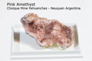 ピンクアメジスト 結晶石 アルゼンチン産|Pink Amethyst|Choique Mine Pehuenches - Neuquen Argentina|Argentina|