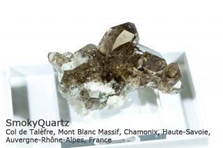 スモーキークォーツ 結晶 フランス産|Col de Talefre, Mont Blanc Massif, Chamonix,  Auvergne-Rhone-Alpes, France|煙水晶|