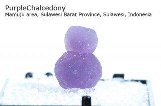 パープルカルセドニー 結晶 インドネシア産|Mamuju area, Sulawesi Barat Province, Sulawesi, Indonesia |Chalcedony|玉髄|
