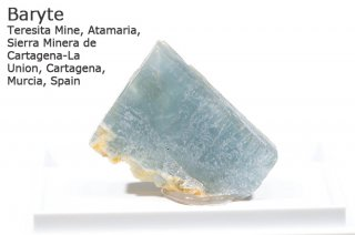 バライト 結晶 スペイン産|Teresita Mine, de Cartagena-La  Union, Cartagena, Murcia, Spain|Baryte|重晶石|