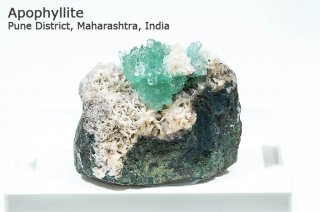グリーンアポフィライト 結晶石 インド産|Pune District, Maharashtra, India|Apophyllite|魚眼石|