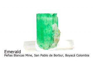 エメラルド 結晶石 コロンビア産|Penas Blancas Mine, San Pablo de Borbur, Boyaca, Colombia|緑柱石|Emerald|2008A|