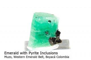 エメラルド 結晶石 コロンビア産|パイライト|Muzo, Western Emerald Belt, Boyaca, Colombia|緑柱石|Emerald|2503A|