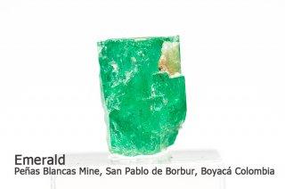 エメラルド 結晶石 コロンビア産|Penas Blancas Mine, San Pablo de Borbur, Boyaca, Colombia|緑柱石|Emerald|2062A|