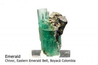 エメラルド 結晶石 コロンビア産|Chivor, Eastern Emerald Belt, Boyaca, Colombia|緑柱石|Emerald|1148A|