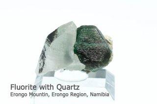 フローライト with クォーツ 結晶石 ナミビア産 エロンゴ産 Erongo Mountin, Erongo Region, Namibia Fluorite 蛍石 