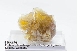 フローライト 結晶石 ドイツ産 イエローフローライト Frohnau, Annaberg-Buchholz, Erzgebirgskreis, Saxony, Germany Fluorite 蛍石 
