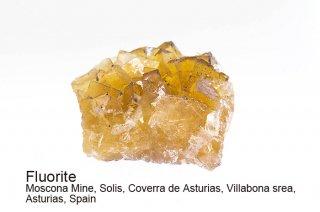 フローライト 結晶 スペイン|イエローフローライト|Moscona Mine,, Villabona srea, Asturias, Spain|蛍石|Fluorite|