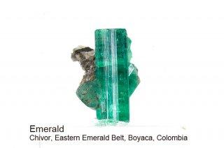 エメラルド 結晶石 コロンビア産|Chivor, Eastern Emerald Belt, Boyaca, Colombia|緑柱石|Emerald|510A|