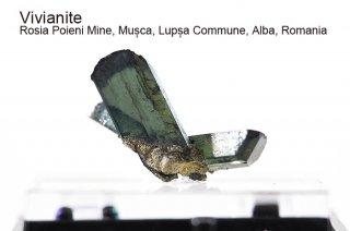 ビビアナイト 結晶石 ルーマニア産 Rosia Poieni Mine, Musca, Lupsa Commune, Alba, Romania 藍鉄鉱 Vivianite 