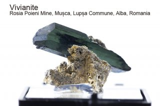 ビビアナイト 結晶石 ルーマニア産|Rosia Poieni Mine, Musca, Lupsa Commune, Alba, Romania|藍鉄鉱|Vivianite|