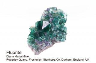 【Diana Maria】フローライト 結晶石 イングランド産 ダイアナマリア 発光 Diana Maria Mine UK 蛍石 