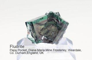 【Papa Pocket】フローライト 結晶石 イングランド産 ダイアナマリア 発光 Papa Pocket, Diana Maria Mine UK 蛍石 