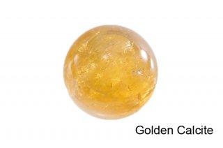 【丸玉】ゴールデンカルサイト 丸玉 40mm|方解石|Golden Calcite|