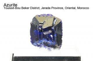 アズライト 結晶 モロッコ産|Azurite|Touissit-Bou Beker District, Jerada Province, Oriental, Morocco|藍銅鉱|