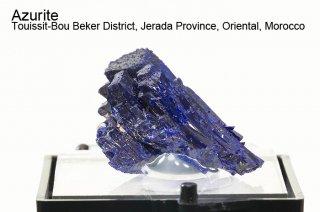 アズライト 結晶 モロッコ産 Azurite Touissit-Bou Beker District, Jerada Province, Oriental, Morocco 藍銅鉱 