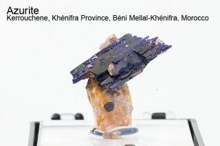 アズライト 結晶 モロッコ産 Azurite Kerrouchene, Khenifra Province, Beni Mellal-Khenifra, Morocco 藍銅鉱 