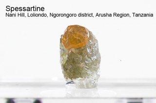 スペッサルティン 結晶 タンザニア産|Spessartine|Nani Hill, Loliondo, Tanzania|満礬柘榴石|