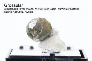 グロッシュラーガーネット 結晶 ロシア産|Grossular Akhtaragda River Russia|灰礬柘榴石|