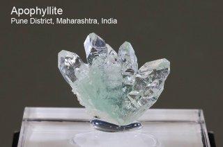 グリーンアポフィライト 結晶石 インド産 Pune District, Maharashtra, India Apophyllite 魚眼石 