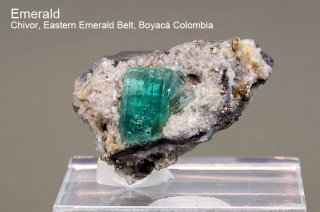 エメラルド 結晶石 コロンビア産|Chivor, Eastern Emerald Belt, Boyaca, Colombia|緑柱石|Emerald|318A|