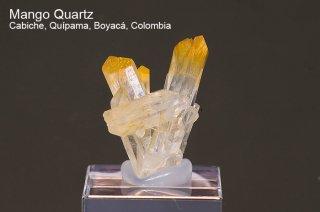 マンゴークォーツ 結晶 コロンビア産|Cabiche, Quipama, Boyaca, Colombia|Quartz|水晶|2466A|