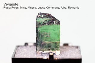 ビビアナイト 結晶石 ルーマニア産 藍鉄鉱 Rosia Poieni Mine, Musca, Lupsa Commune, Alba, Romania Vivianite 