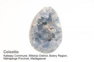 セレスタイト 結晶石 マダガスカル産 天青石 エッグ Madagascar Celestite 