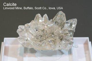 カルサイト 結晶石 アメリカ産 Linwood Mine, Buffalo, Scott Co., Iowa, USA Calcite 方解石 