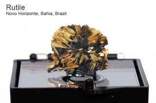 ルチル with ヘマタイト 結晶石 ブラジル産 Novo Horizonte, Bahia, Brazil Rutile 金紅石 