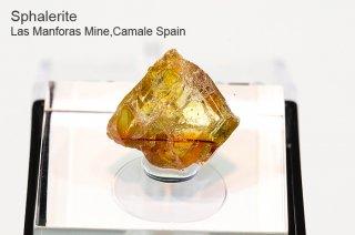 スファレライト 結晶 スペイン産 Sphalerite Las Manforas Mine,Camale Spain Sphalerite 閃亜鉛鉱 
