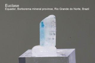 ユークレイス 結晶石 ブラジル産|Equador, Borborema mineral province, Rio Grande do Norte, Brazil|Euclase|ケイ酸塩鉱物|