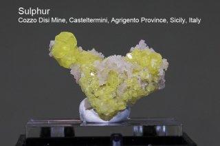 サルファー 結晶原石 イタリア・シチリア産|Cozzo Disi Mine, Casteltermini, Agrigento Province, Sicily, Italy|Sulfur|硫黄|