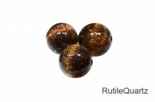 【ビーズ】キャッツアイ ルチルクォーツ SA 8mm Rutilequartz 1粒販売 