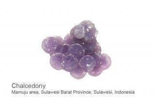 パープルカルセドニー 結晶 インドネシア産 Mamuju area, Sulawesi Barat Province, Sulawesi, Indonesia  Chalcedony 玉髄 