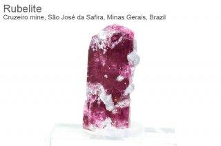 ルベライト 結晶 ブラジル産|Cruzeiro mine, Sao Jose da Safira, Minas Gerais, Brazil|Rubellite|Tourmaline|2159A|