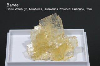 バライト 結晶 ペルー産|Cerro Warihuyn, Miraflores, Huamalies Province, Huanuco, Peru|Baryte|重晶石|
