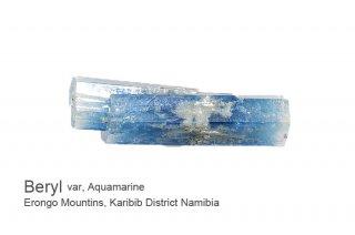 アクアマリン 結晶石 ナミビア産|DT結晶|Beryl|Erongo Mountins, Karibib District Namibia|Aquamarine|緑柱石|