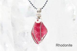 ロードナイト 結晶ペンダント ブラジル産|Morro da Mina mine, Conselheiro Lafaiete, Minas Gerais, Brazil|Rhodonite|薔薇輝石|