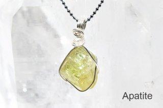 アパタイト 結晶ペンダント メキシコ産|Cerro de Mercado Mine, Durango Municipality, Durango, Mexico|Apatite|燐灰石|