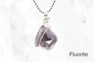 フローライト 結晶ペンダント イングランド|発光|Weardale Heather Pocket, Diana Maria Mine|Fluorite|蛍石|