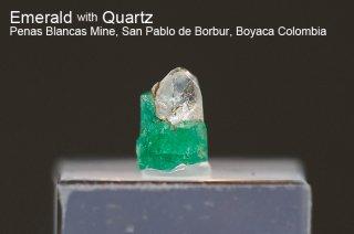 エメラルド with クォーツ 結晶 コロンビア産|緑柱石|Penas Blancas Mine, San Pablo de Borbur, Boyaca Colombia|Emerald|277A|