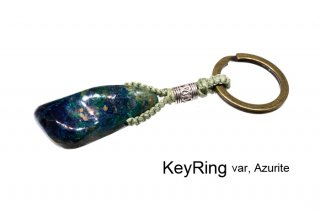 KeyRing  var, Azurite|キーリング|アズライト|藍銅鉱|