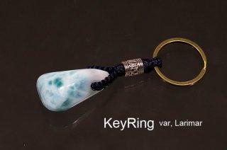 KeyRing  var, Larimar|キーリング|ラリマー|ソーダ珪灰石|