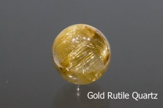 【ビーズ】ゴールドルチルクォーツ SA 16mm ブラジル産|Gold Rutile Quartz|1粒販売|