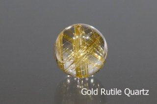 【ビーズ】ゴールドルチルクォーツ SA 14mm ブラジル産|Gold Rutile Quartz|1粒販売|