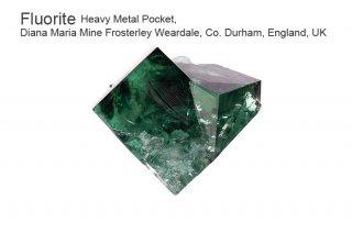【Heavy Metal Pocket】フローライト 結晶石 イングランド産|ダイアナマリア|発光|Heavy Metal Pocket, Diana Maria Mine UK|蛍石|